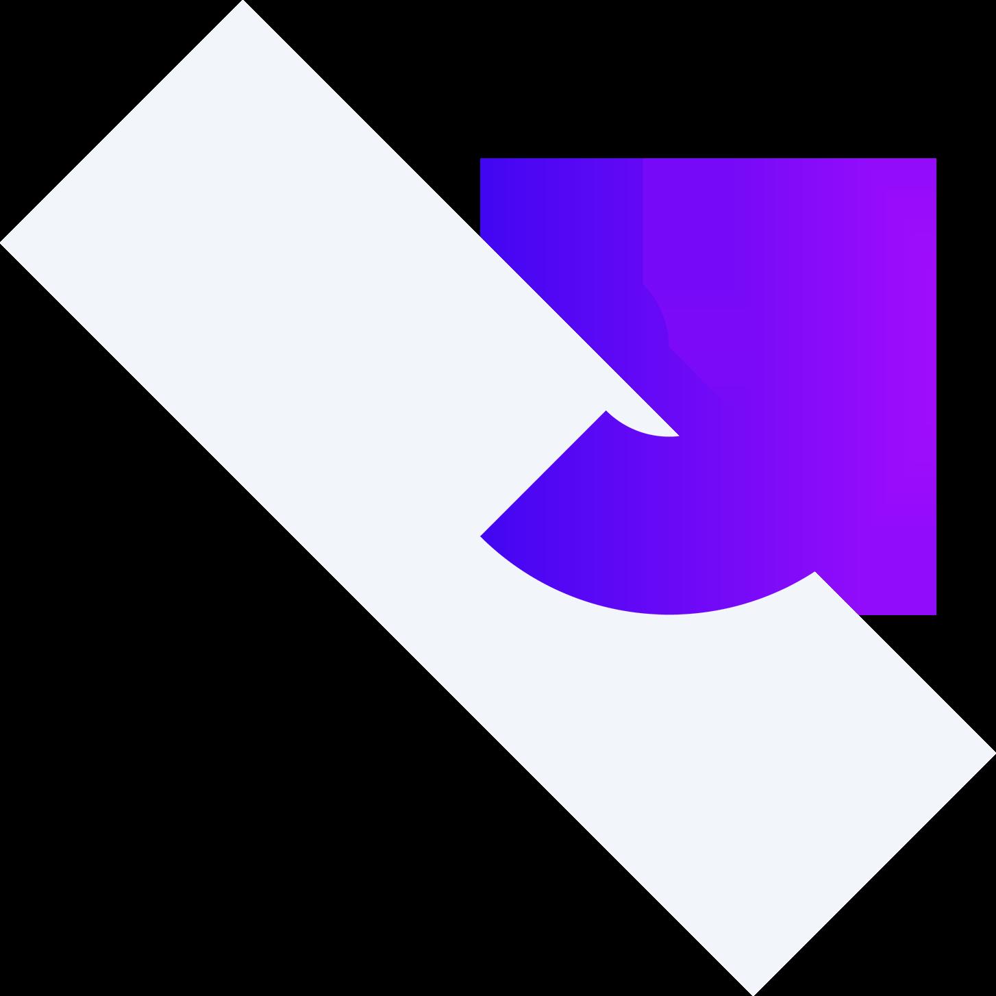 Grey rectangle, purple semicircle